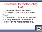 procedures for implementing uaa5