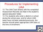 procedures for implementing uaa7
