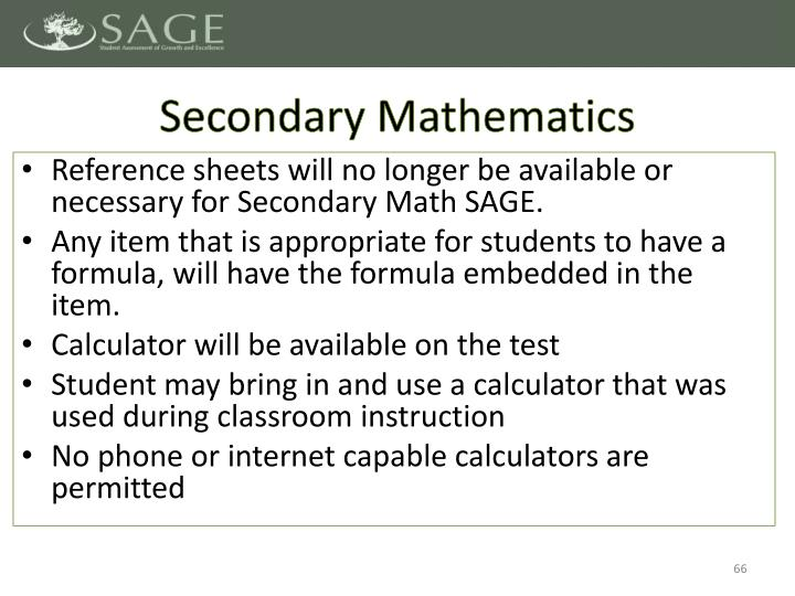 Secondary Mathematics