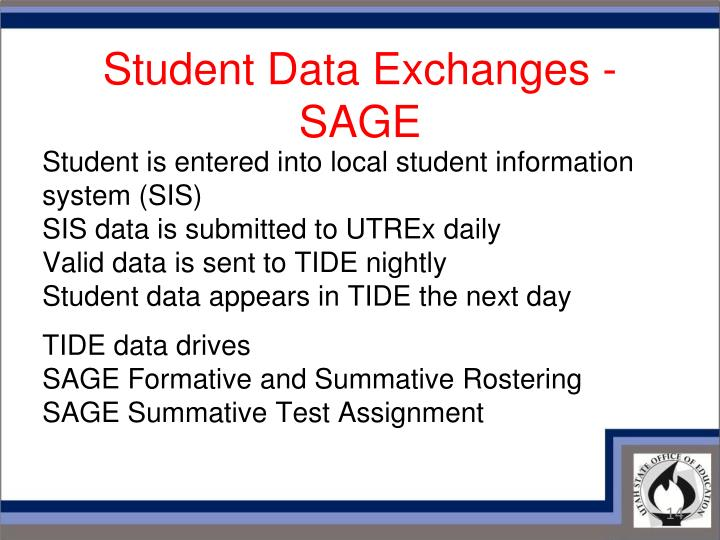 Student Data Exchanges - SAGE