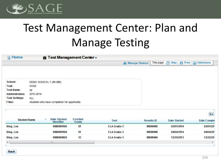 Test Management Center: Plan and Manage Testing