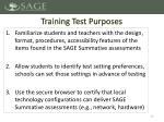training test purposes