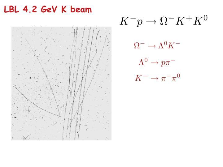 LBL 4.2 GeV K beam