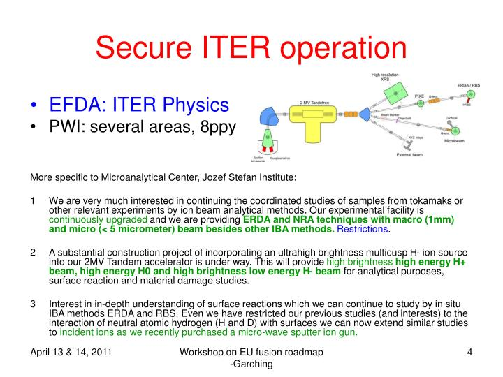 Secure ITER operation