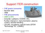 support iter construction