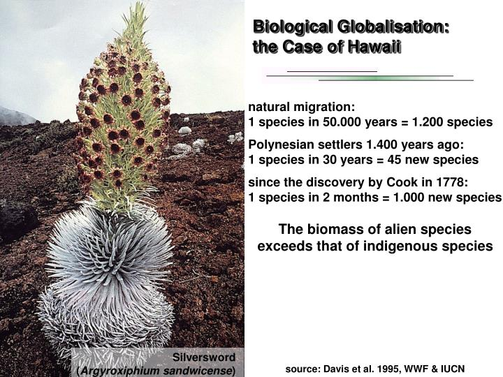 Biological Globalisation: