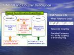 1 model and coupler description