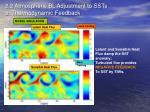 2 2 atmospheric bl adjustment to ssts e thermodynamic feedback