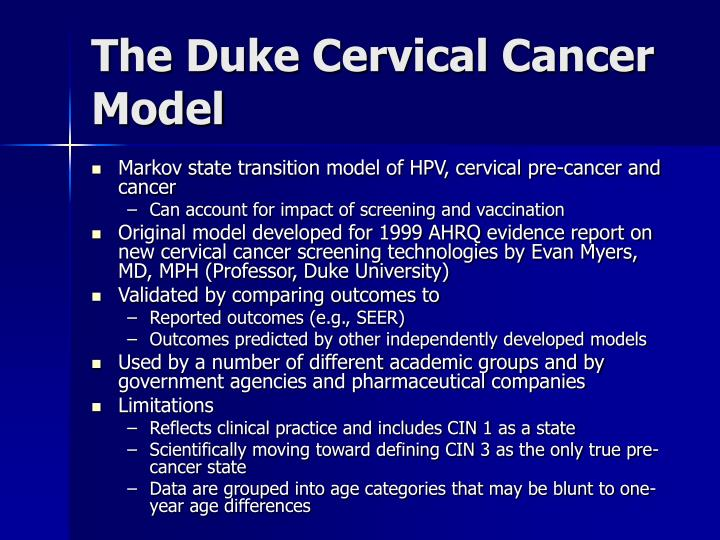 The Duke Cervical Cancer Model