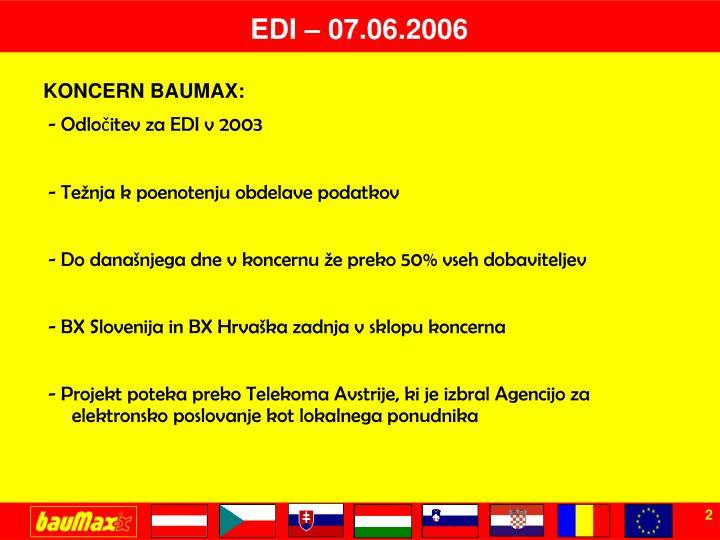 EDI – 07.06.2006
