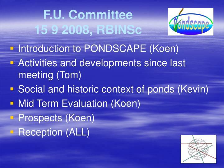 F.U. Committee