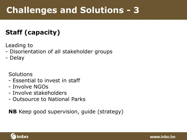 Challenges and Solutions - 3