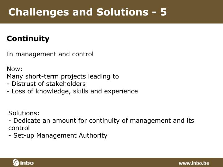 Challenges and Solutions - 5