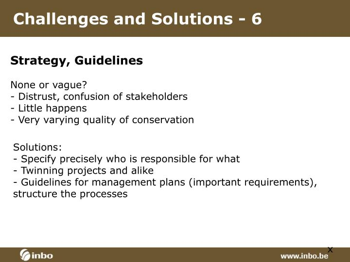 Challenges and Solutions - 6