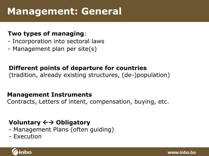 Management: General
