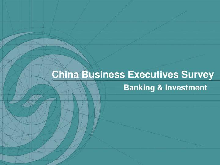 China Business Executives Survey