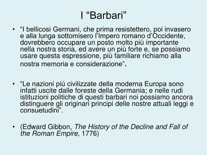 """I """"Barbari"""""""