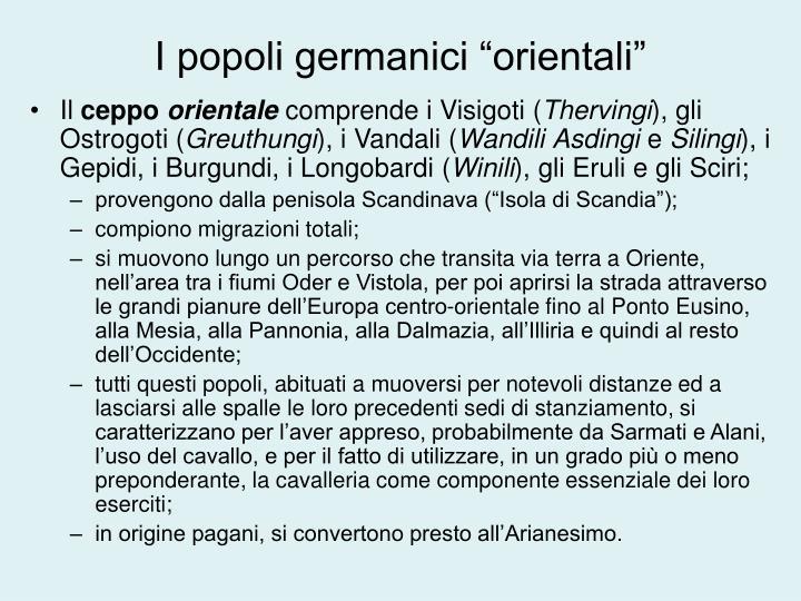 """I popoli germanici """"orientali"""""""