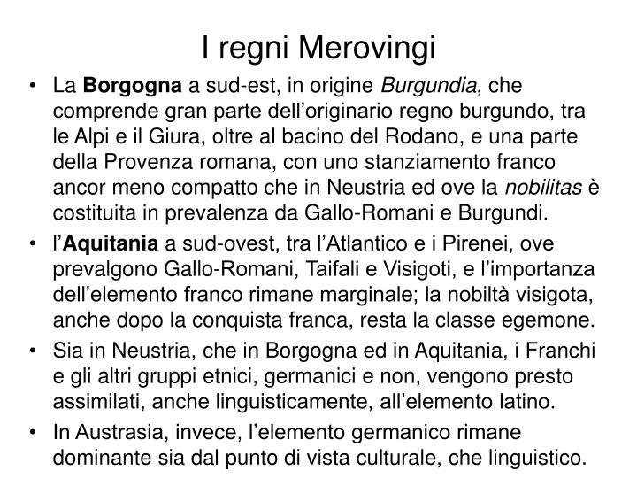 I regni Merovingi