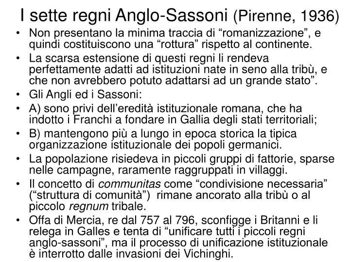I sette regni Anglo-Sassoni