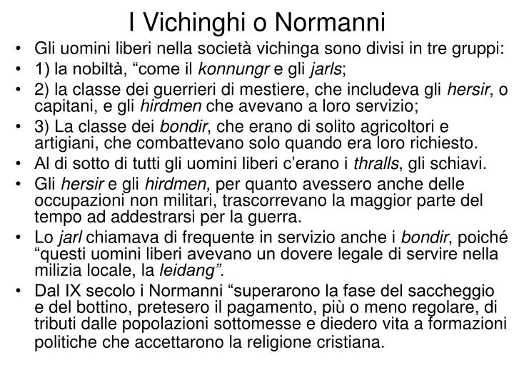 I Vichinghi o Normanni