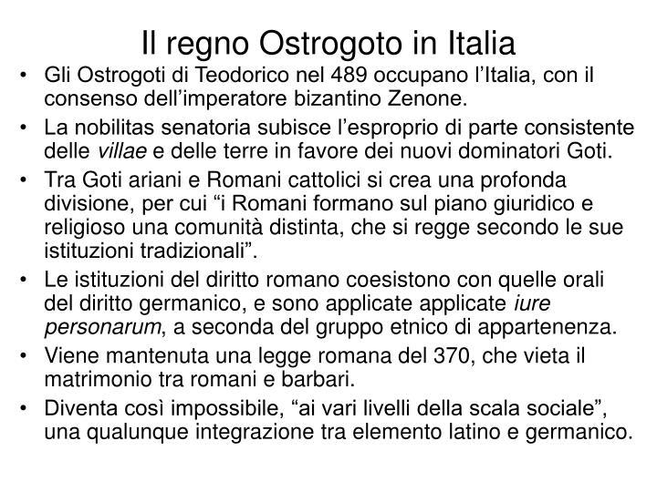 Il regno Ostrogoto in Italia