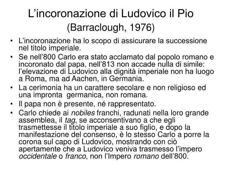 L'incoronazione di Ludovico il Pio