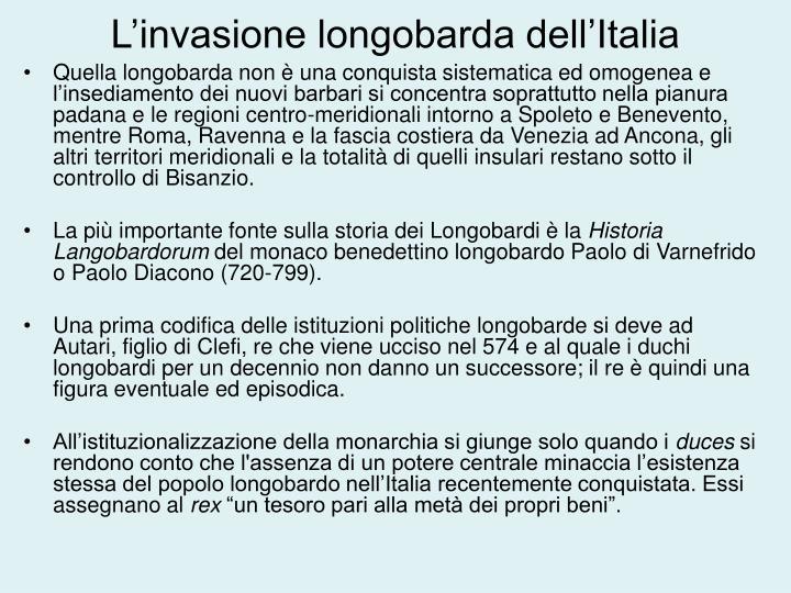 L'invasione longobarda dell'Italia
