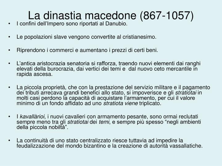 La dinastia macedone (867-1057)