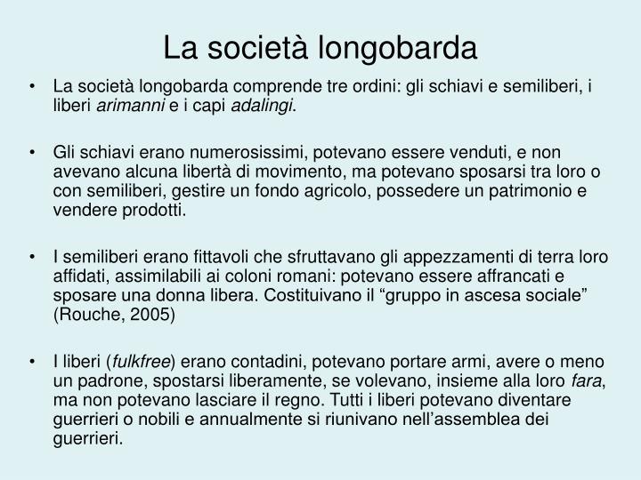 La società longobarda