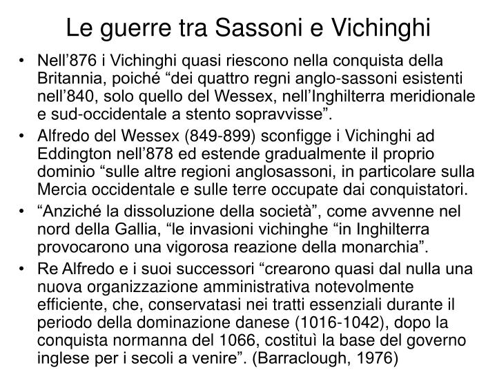 Le guerre tra Sassoni e Vichinghi