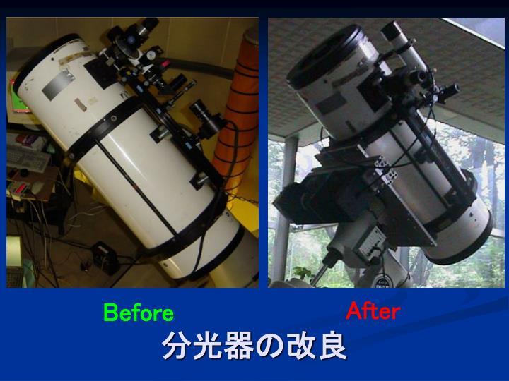 分光器の改良