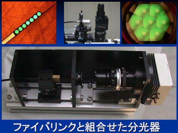 ファイバリンクと組合せた分光器