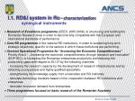 i 1 rd i system in ro characterization synergical instruments
