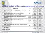 i 2 rd i system in ro results positive impact on economy