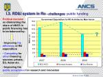 i 3 rd i system in ro challenges public funding