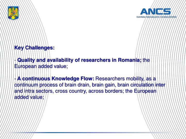 Key Challenges: