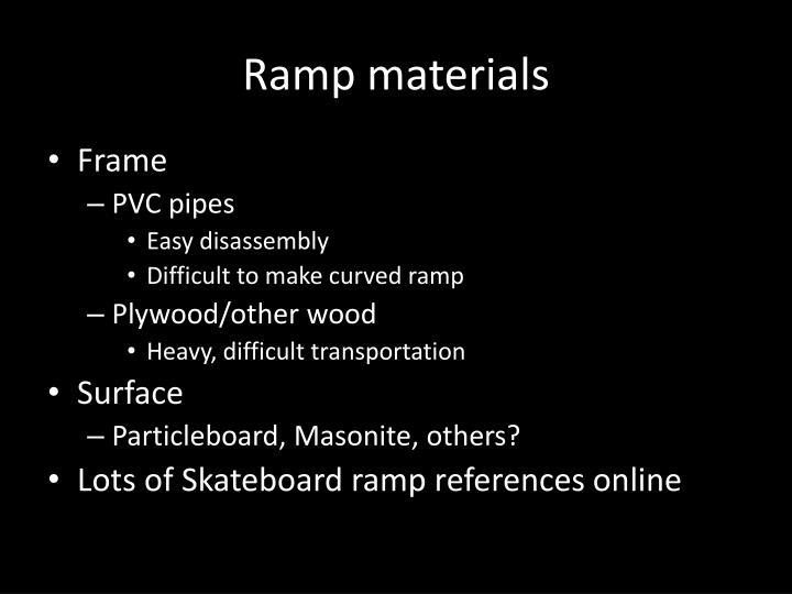 Ramp materials