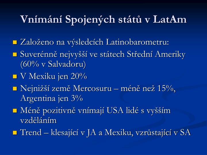 Vnímání Spojených států v LatAm