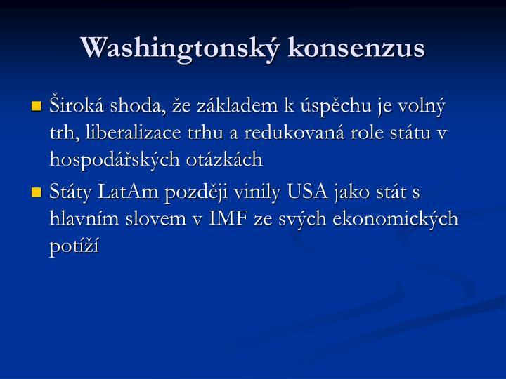 Washingtonský konsenzus