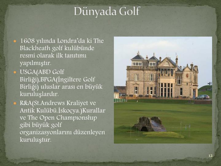 Dünyada Golf