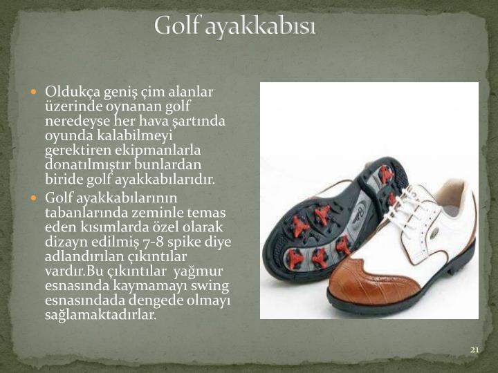 Golf ayakkabısı