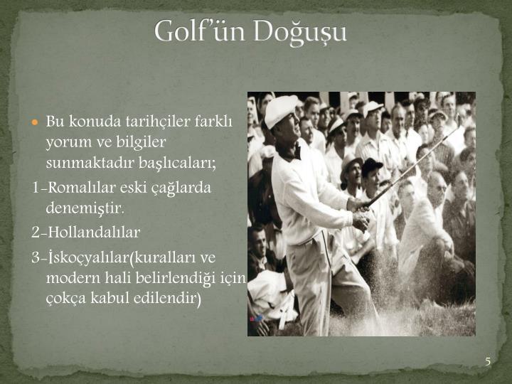 Golf'ün Doğuşu