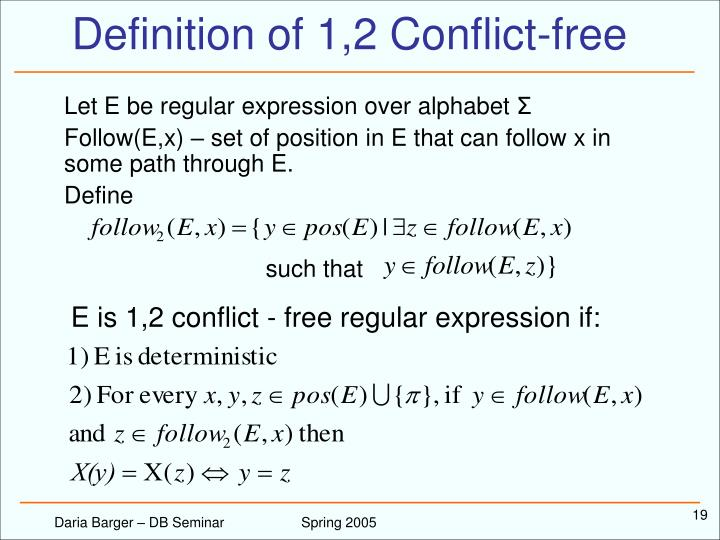 Definition of 1,2 Conflict-free
