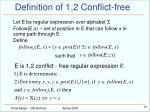 definition of 1 2 conflict free
