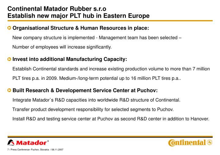 Continental Matador Rubber s.r.o
