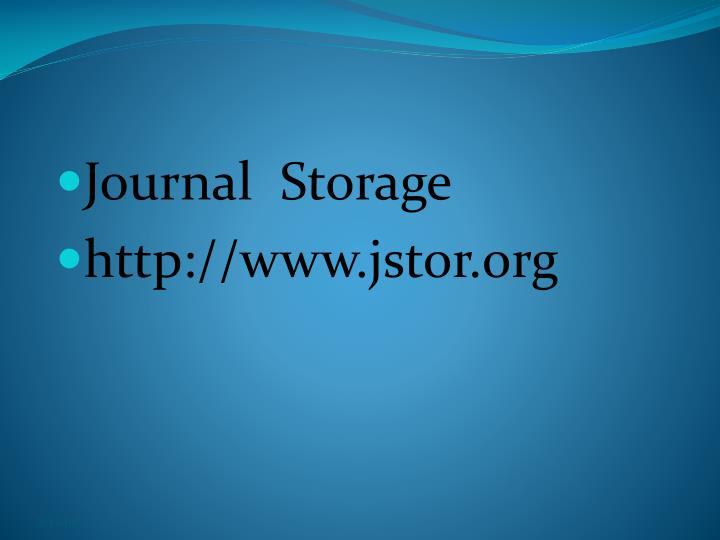 Journal  Storage