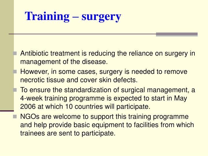 Training – surgery