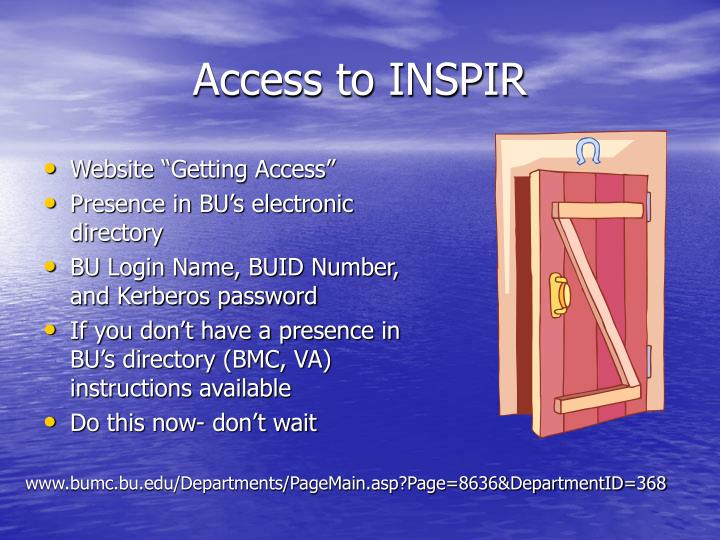 Access to INSPIR
