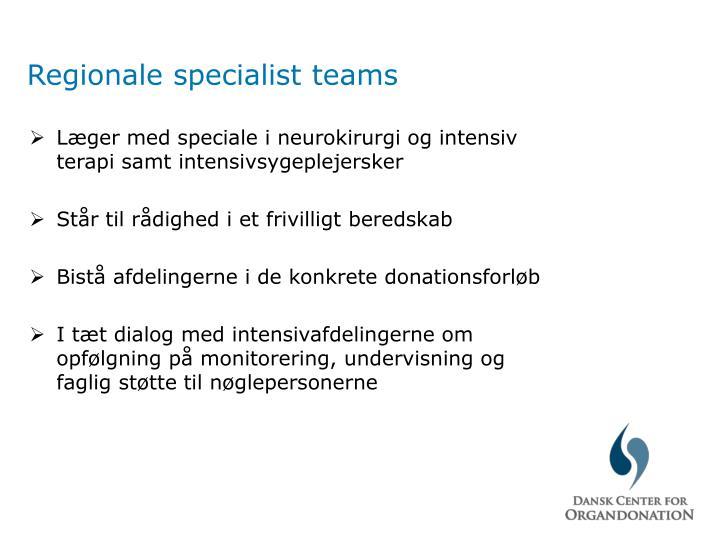 Regionale specialist teams